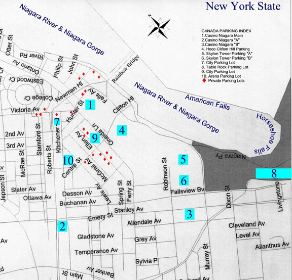 Map of casino niagara falls casino employment windsor