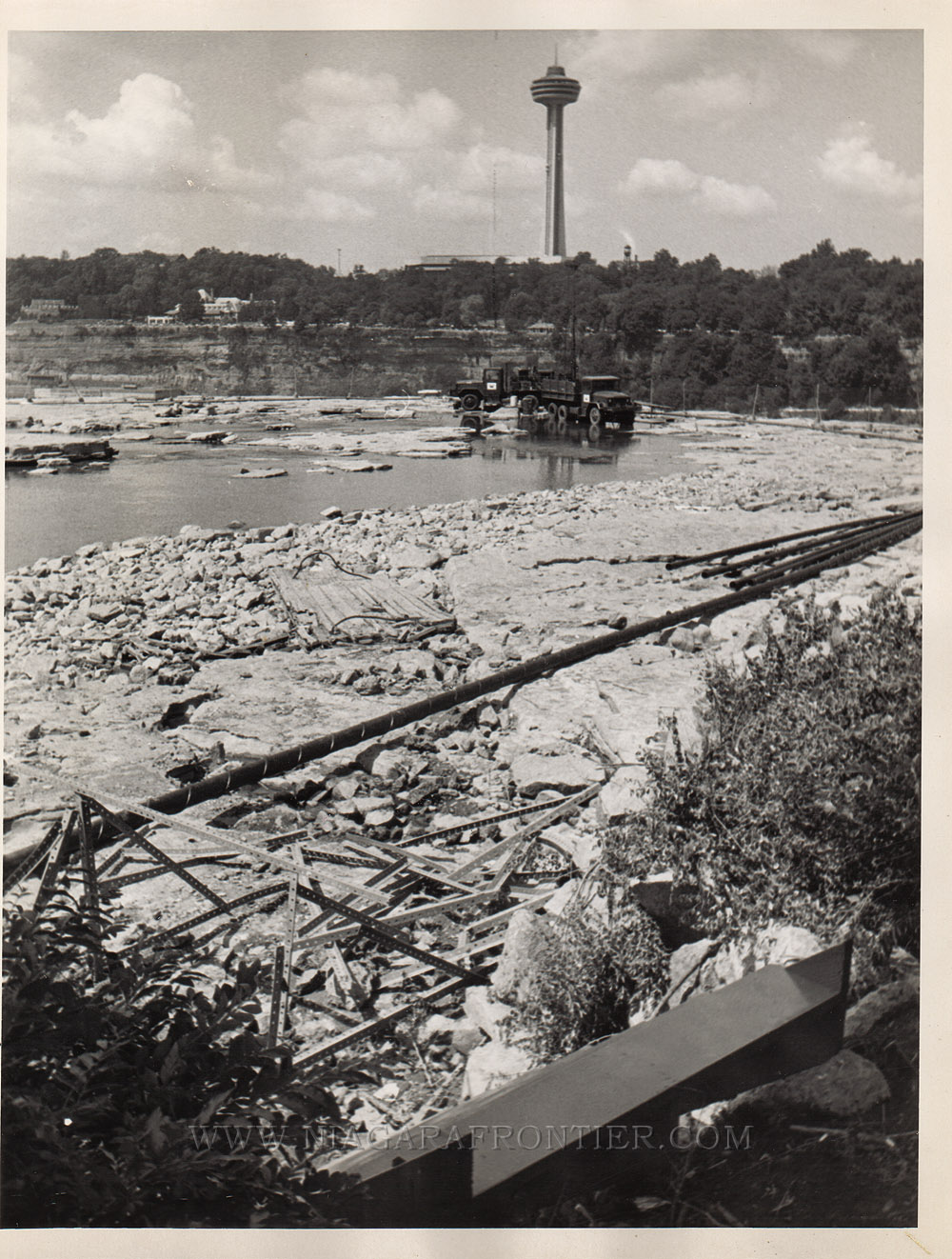 Niagara Falls Dewatered American Falls 1969