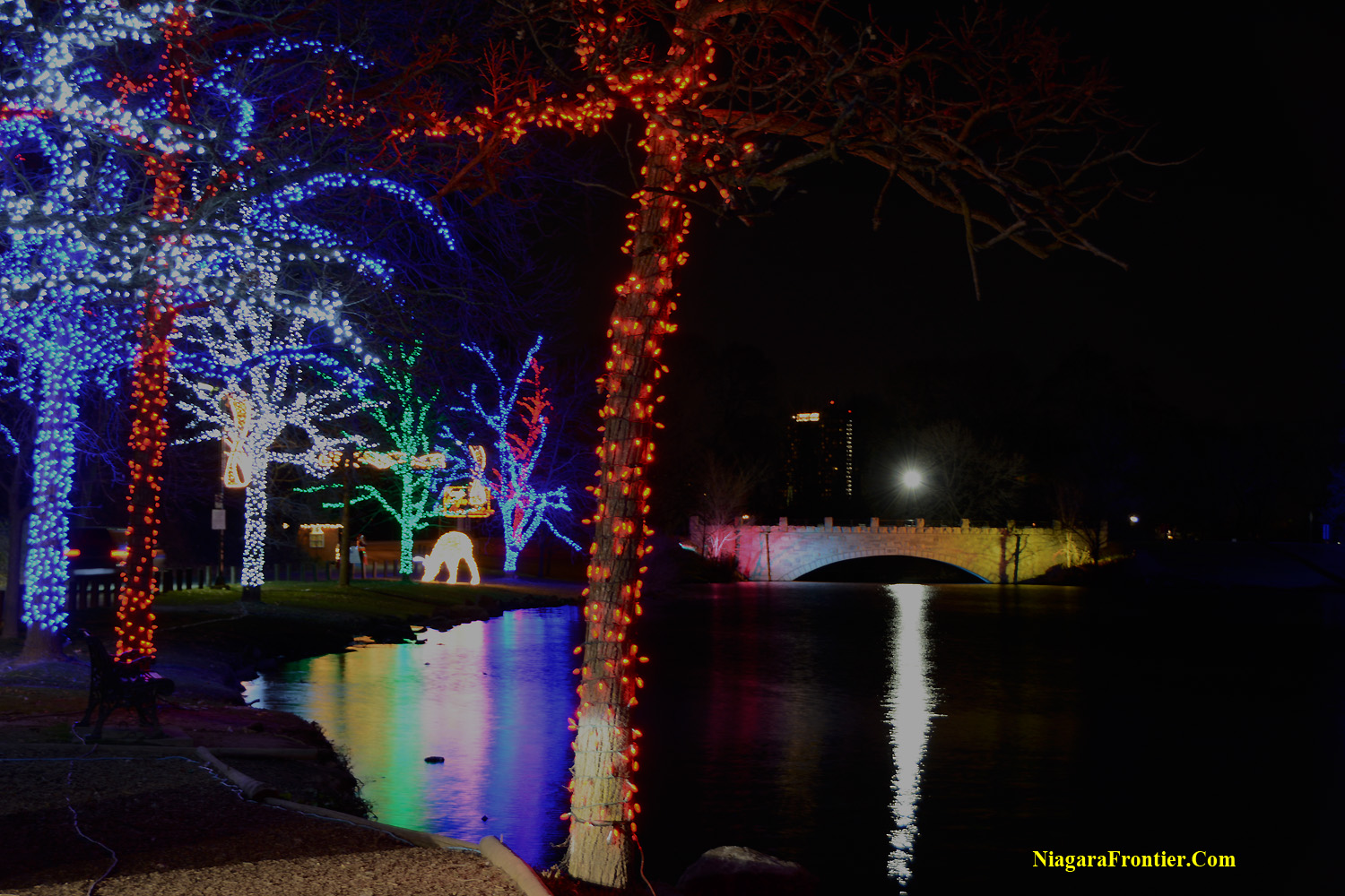 take a tour of the niagara falls winter festival of lights below